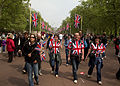 Wedding of Prince William of Wales and Kate Middleton crowds flags.jpg