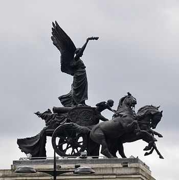 London, Wellington Arch, sculpture of Peace, b...