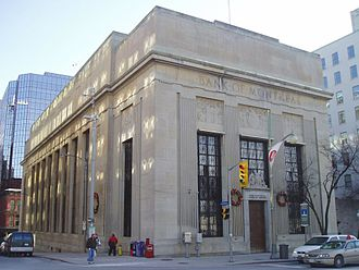 Branch (banking) - Former Bank of Montreal branch in Ottawa, now a historical building.
