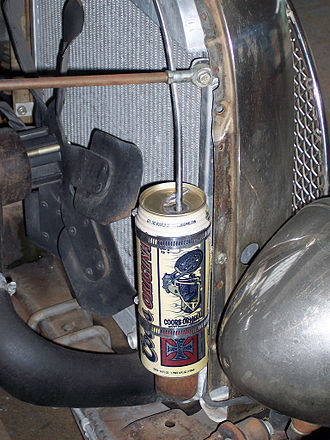 West Coast Choppers - WCC/Coors tie-in beer can adapted as a hotrod part.