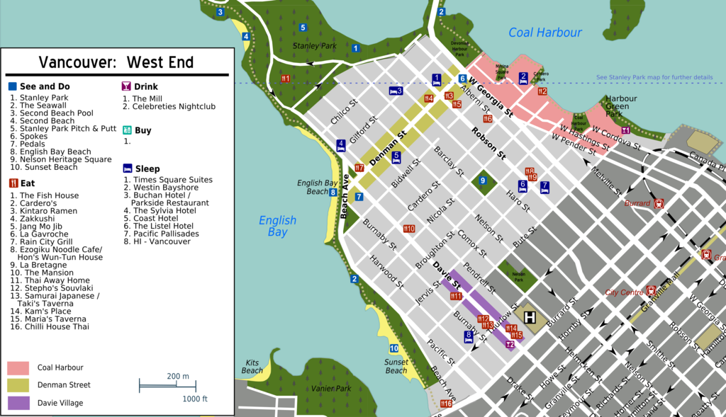 West end map