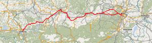 Western Railway (Austria) - Image: Westbahn ÖPNVKarte 02