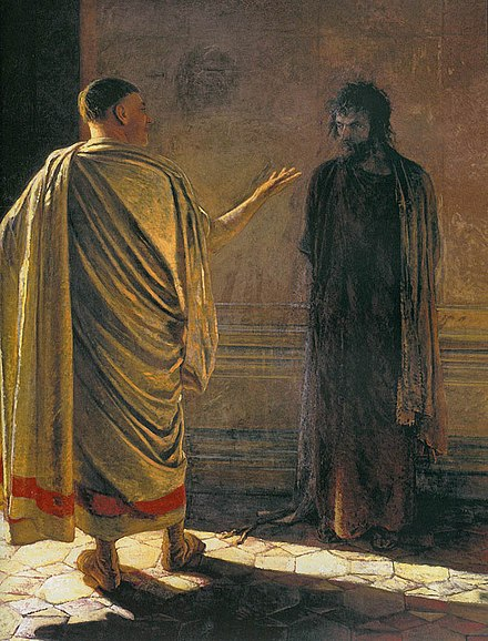 Quid Est Veritas? Christ and Pilate, by Nikolai Ge. What-is-truth02.jpg