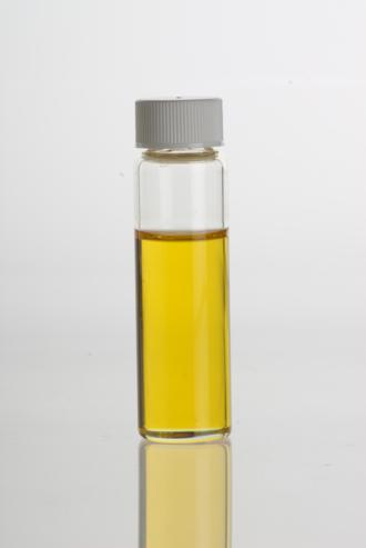 Wheat germ oil - Wheat germ oil in a clear glass vial