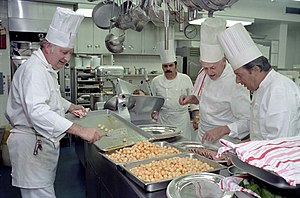 English: White House chefs, directed by Execut...