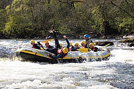 White water rafting at Grandtully (geograph 2937856).jpg