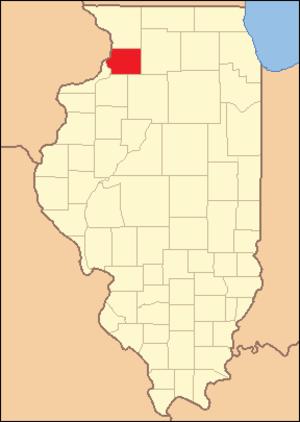 Whiteside County, Illinois - Image: Whiteside County Illinois 1836