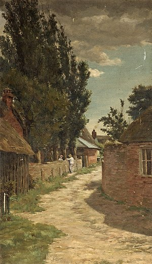 Alfred Lys Baldry - Wick Lane from Wick Ferry (1882) by Alfred Lys Baldry