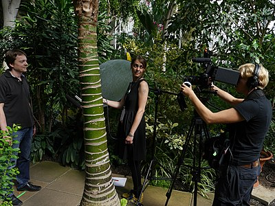 Wikimania 2014 testimonial video project in the Barbican Conservatory 04.jpg