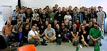 Wikimedia Hackathon Berlin 2011 group photo.jpg