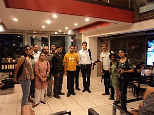 First Wikipedia Delhi Meetup with Barry Newstead(CDO, Wikimedia Foundation)