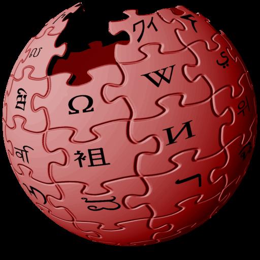 Wikipedia logo red