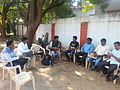 Wikipedians discussing with members of Bidar photography society 1.jpg