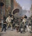 Wilhelm Marstrand - En gadescene i hundedagene - 1832.png