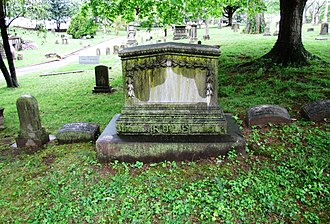 William Rule (editor) - Rule's grave at Old Gray Cemetery