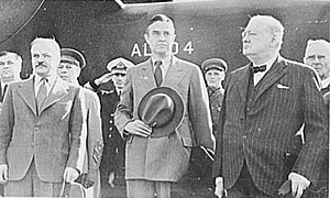 W. Averell Harriman - W. Averell Harriman (center) with Winston Churchill (right) and Vyacheslav Molotov (left)