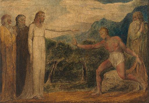 William Blake - Christ Giving Sight to Bartimaeus - Google Art Project