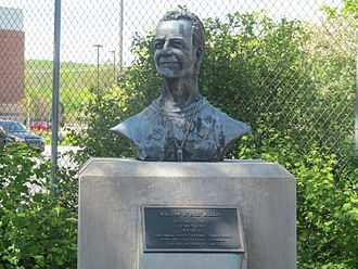 William D. Murray - A bust of William D. Murray located at Delaware Stadium commemorating his record as head coach, National Championship, and College Football Hall of Fame induction.