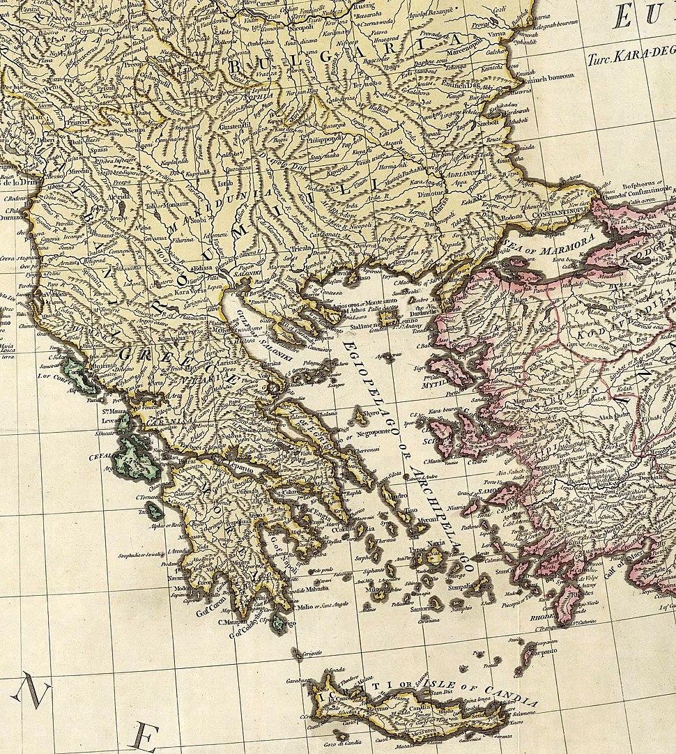 William Faden. Composite Mediterranean. 1785.I