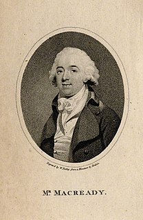 William Macready the Elder Irish actor-manager