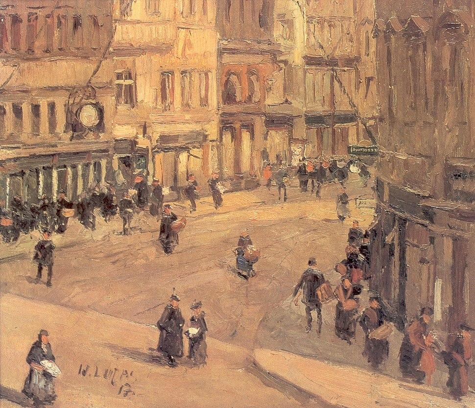 Willy Lucas - Die Holstenstra%C3%9Fe in Kiel 1917