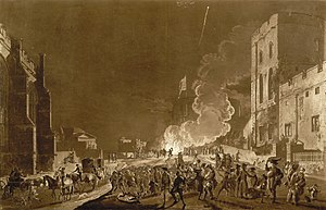 Aquatint with etching of the festivities in Wi...