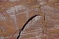 Wingate Sandstone (Upper Triassic) with desert varnish, Fremont Petroglyphs Cliff, Capitol Reef National Park, southern Utah 14 (8444503989).jpg