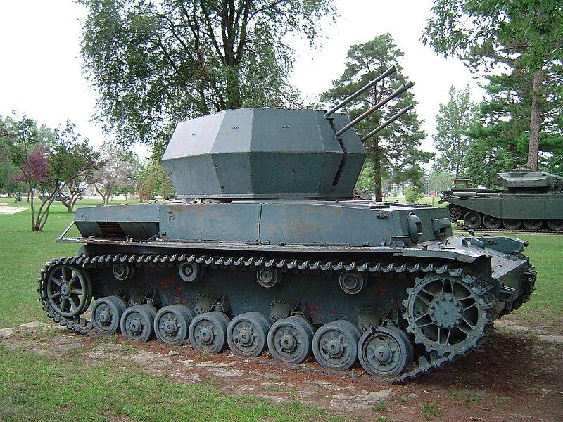 German 50 Mm Anti Tank Gun: File:Wirbelwind CFB Borden 3.jpg