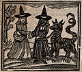 Witchcraft; a white-faced witch meeting a black-faced witch Wellcome V0025811ETC.jpg