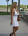 Woman in white dress on Ocean Drive South Beach.jpg