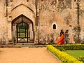 Women Walking at Ruins - Near Hampi Village - India.JPG