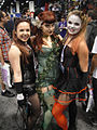 WonderCon 2012 - pinup Catwoman, Poison Ivy, and Harley Quinn (7019311537).jpg