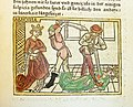 Woodcut illustration of the death of Harmonia of Syracuse and her body double - Penn Provenance Project.jpg