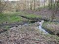 Wooden dam in Lower Fell Greave, Bradley, Huddersfield - geograph.org.uk - 322402.jpg