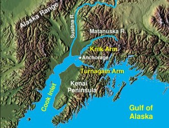 Cook Inlet - Cook Inlet, showing Knik and Turnagain Arms