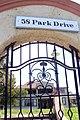 Wrought iron gate at the Sharley Cribb Nursing College, 58 Park Drive, Port Elizabeth, South Africa.jpg