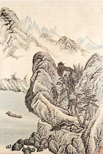 Wu Li - Wu Li, Boat Trip on the River Underneath a Buddhist Temple
