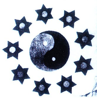 Wuchang Uprising - Wuchang military nine-star flag, with the Taijitu symbol in the middle
