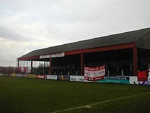 Solitude (football ground) - The Cage Stand