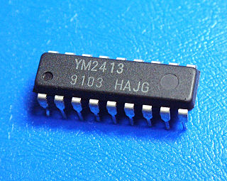 Yamaha YM2413 FM synthesis sound chip by Yamaha