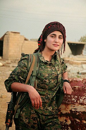 People's Protection Units - YPJ fighter, November 2014
