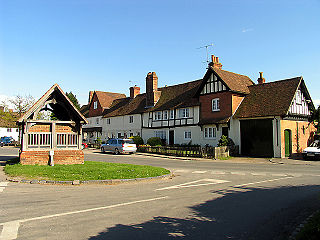 Yattendon village in the United Kingdom