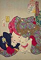 Yoshitoshi - Looking tiresome - the appearance of a virgin of the Kansei era.jpg