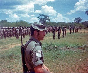 Rhodesian Bush War - Member of the Commonwealth Monitoring Force supervising a ZIPRA assembly point.