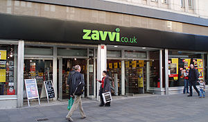Zavvi (retailer) - Zavvi, Northumberland Street, Newcastle upon Tyne. This store closed on 29 January 2009