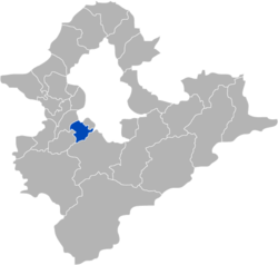 Location of Zhonghe in Taipei County