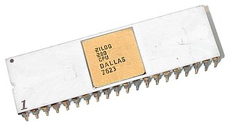 Zilog Z80 - An early Z80 microprocessor, manufactured in June 1976 according to the date stamp