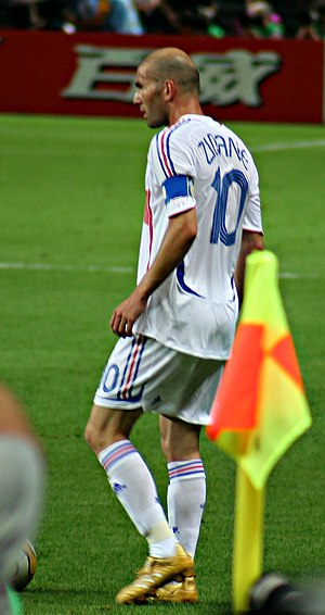 France national football team - Zinedine Zidane captaining France at the 2006 FIFA World Cup