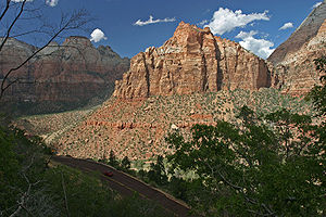 Zion mount carmel highway view