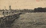 Zoppot, Westpreußen - Strand von der Seebrücke aus (Zeno Ansichtskarten).jpg